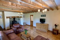 Trysor Holiday Cottage Lounge Wood Burner View
