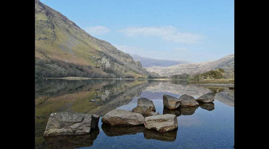 A Snowdonia lake view - by Mary Marshall