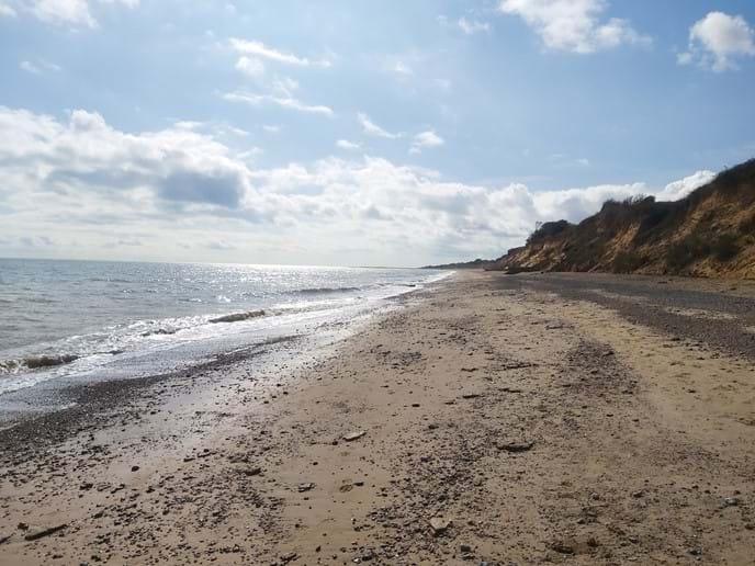 Beach walk between Pakefield and Kessingland