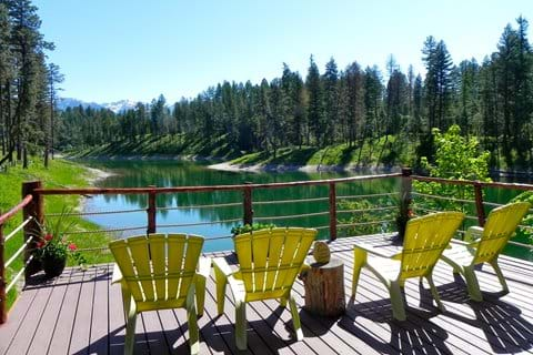 Lake front deck
