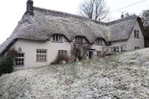 Merlewood Cottage in the snow