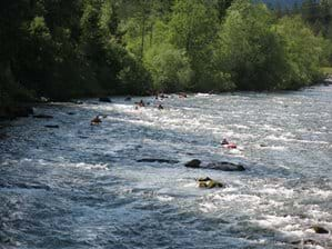 Kayaks on the River Moll