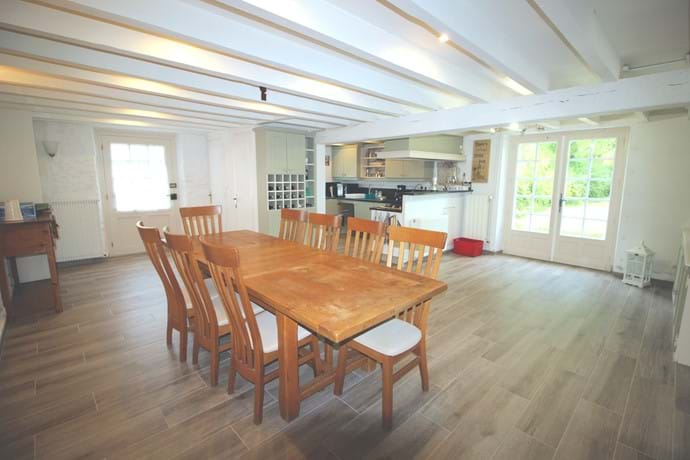 Kitchen/Diner - an extremely spacious room with table and chairs for 10 + high chair