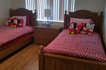 Minnie Mouse Twin Room - Minnie Mouse theme, beautiful views overlooking the lake, iPod dock and flatscreen cable TV/DVD combo