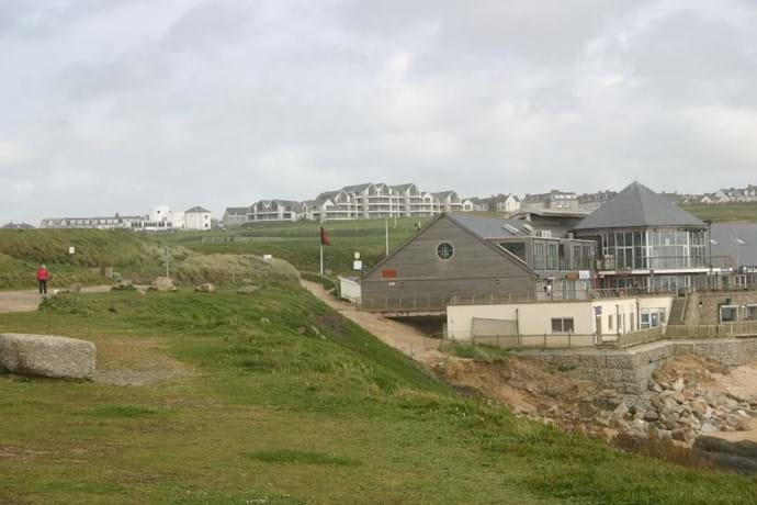 Fistral beach shops and Bredon Court