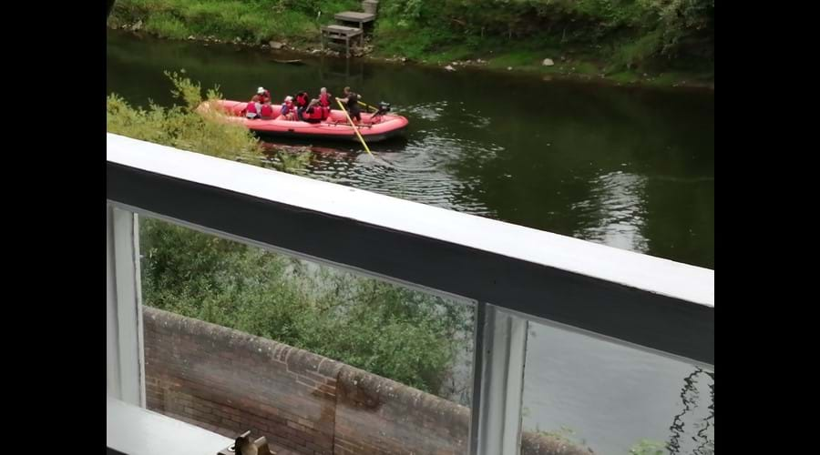 Lovely watching the raft go by from the bedroom window
