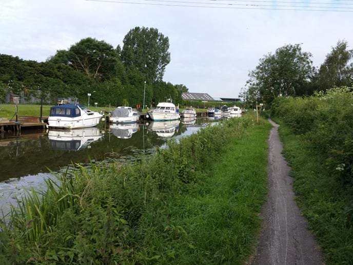 Boats on the River Ancholme at Brigg