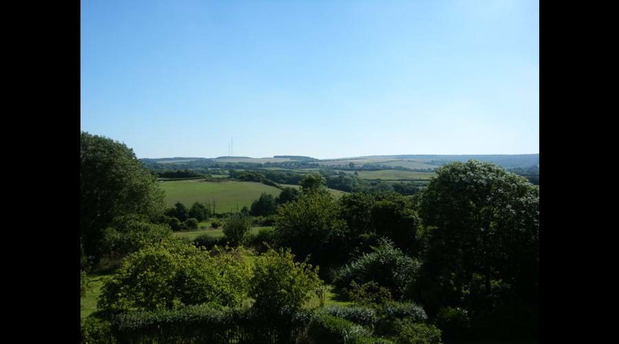 The fabulous view from the garden