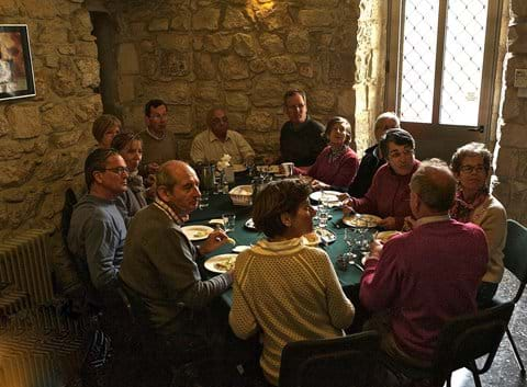 A group lunch in our smaller dining room