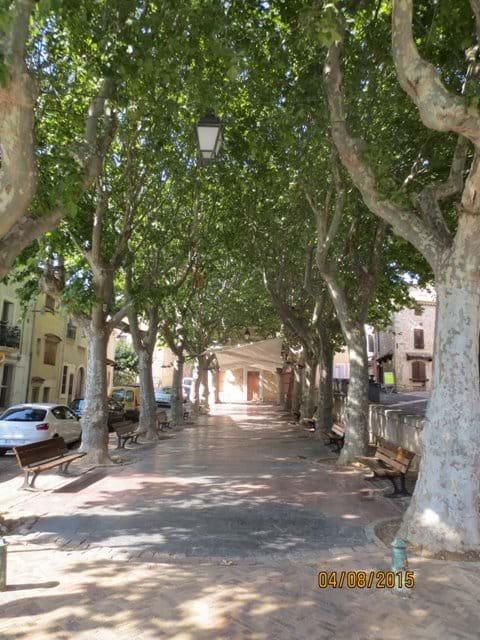 Grande Promenade, Vendres. Market place.