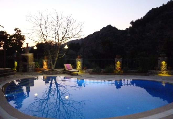 Evening time at Villa Han
