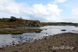 Fairy Hill Cottage is located next to a burn (river) which runs down from the hills and feeds into the sea a short distance away.