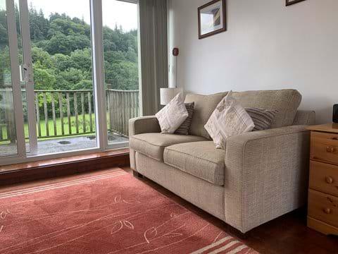 Comfortable seating area in the top floor bedroom