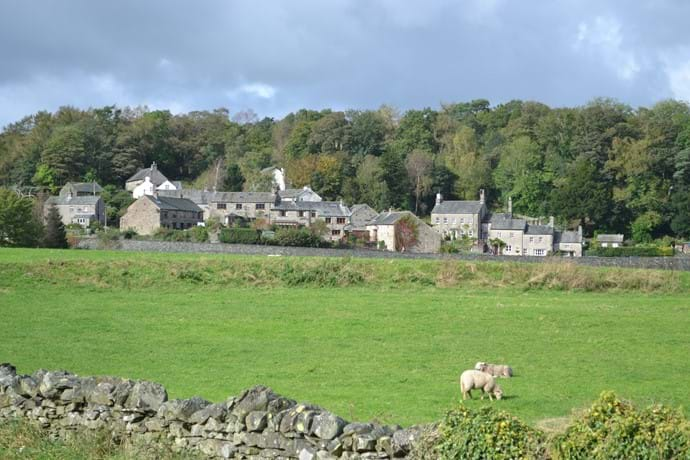 Haverthwaite Village (Barn to centre of picture)