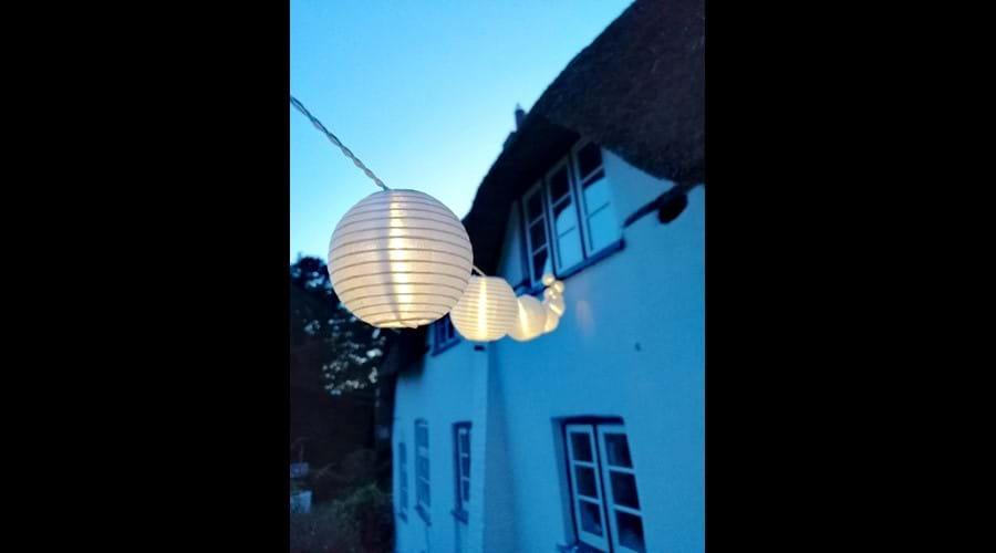 Merlewood Cottage at dusk