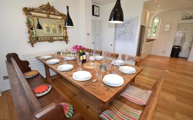Dining for up to ten guests