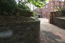 Entrance to Bishop's Lodge, at Hillsdene, with secure off street parking and electric gates