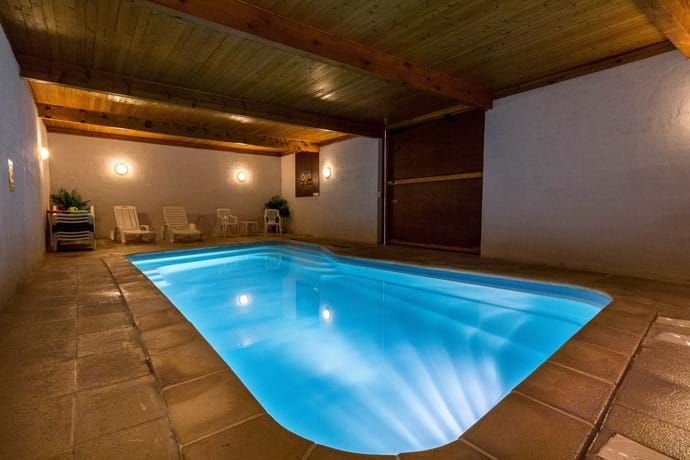 Pool after dark - why not take an evening swim
