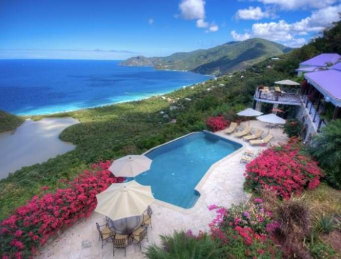 The beautiful pool deck