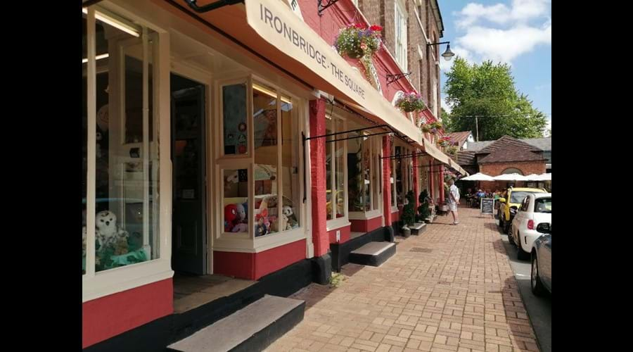 Quaint little shops in Ironbridge