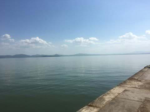 Lake Trasimeno in summer