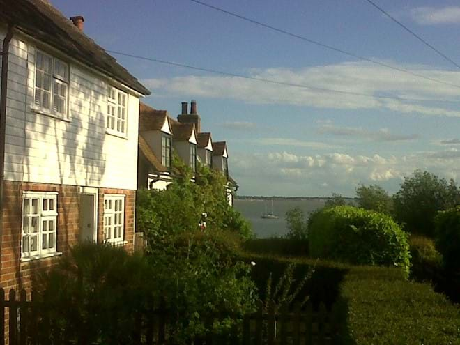 Mersea Island Cottage with boat in background