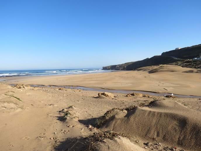 Monte Clerigo beach looking toward Espartal