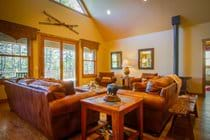 Mountain lodge style with a family friendly  feel