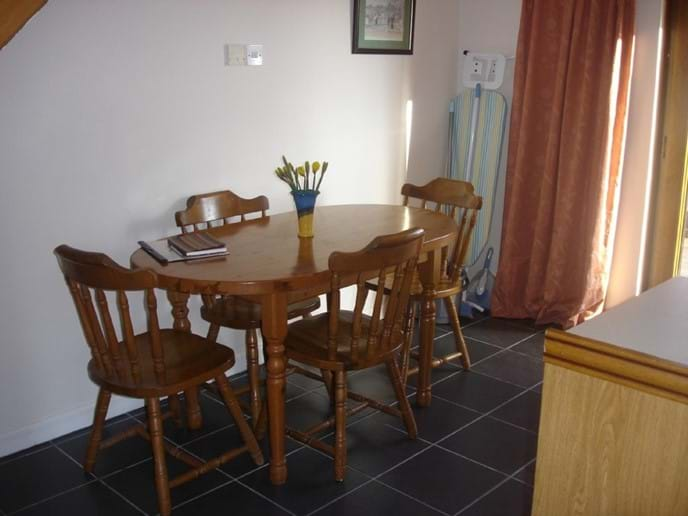 Dining area in the cottage