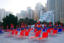 """""""Plenty of new sunbeds and umbrellas just for use by owners and guests private beach"""""""
