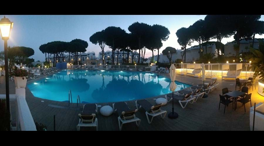 Warm evenings sitting by the pool bar