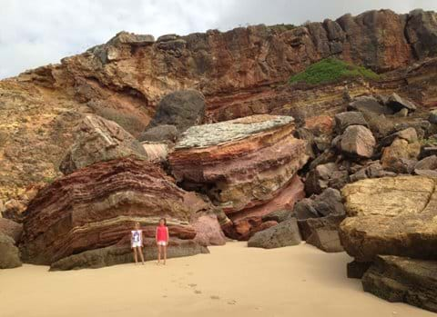 Multi colour cliffs at Salema