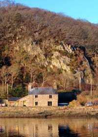 The cottage from the estuary.