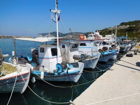 Boats in Agios Stefanos harbour