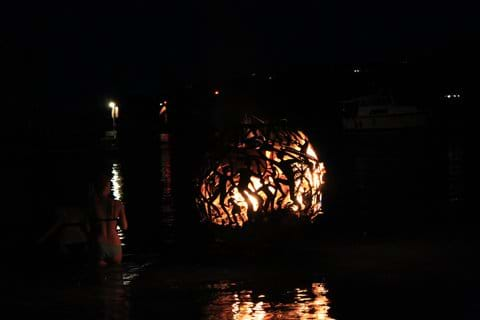 Trellis Bay - sculpture by night