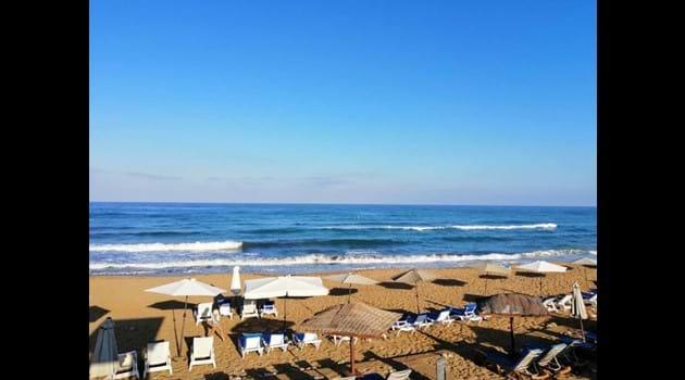 Sandy Beach is a 15 minute walk