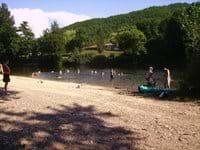 Puy L'Eveque river beach