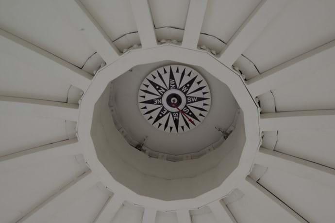 Lantern room compass