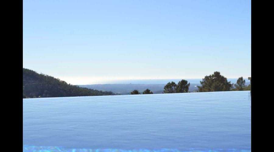 Infinity pool at Villa Vida Nova self catering villa in Portugal