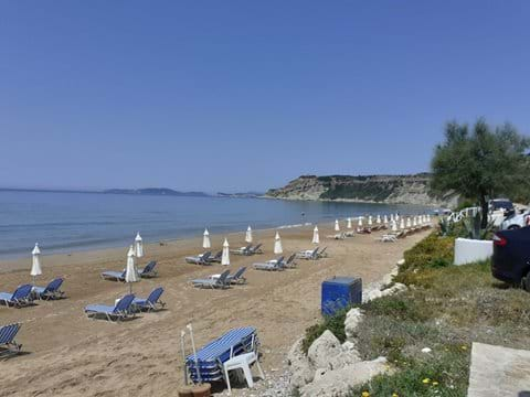Arillas beach July 2020 before the masses arrived