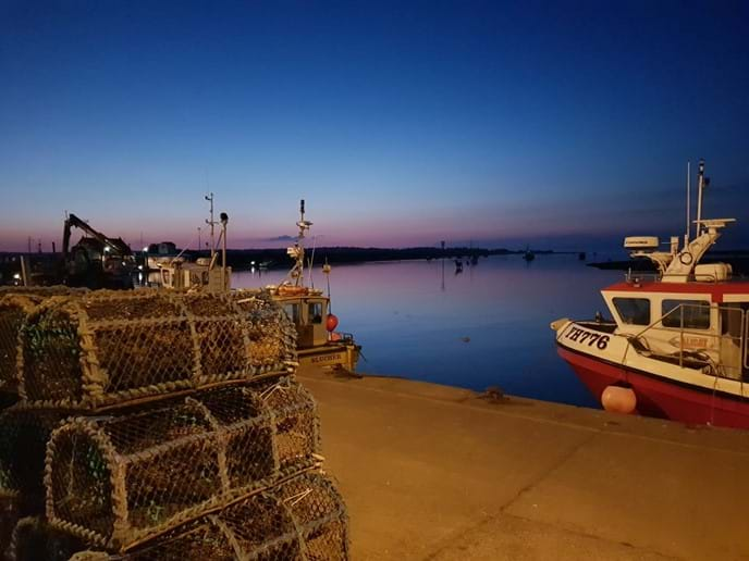 Wells Harbour at dusk