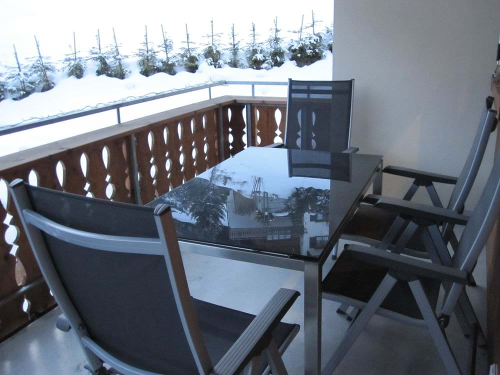 Main Balcony accessed from Dining Area