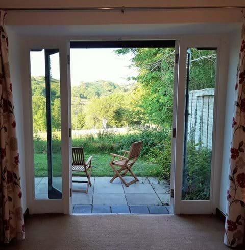 French Doors to garden - en suite king double room