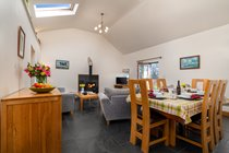 Living dining room at Glas y Dorlan self catering
