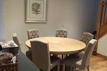 Dining room comfortably seating 6