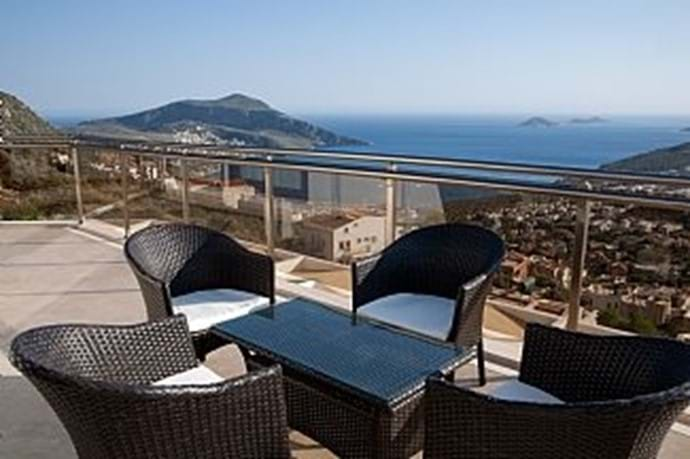 The top terrace has spectacular views