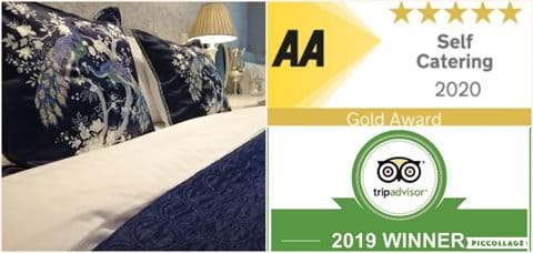 AWARDS - 5 STAR GOLD 2020 AA TRIPADVISOR CERTIFICATE OF EXCELLENCE 2019