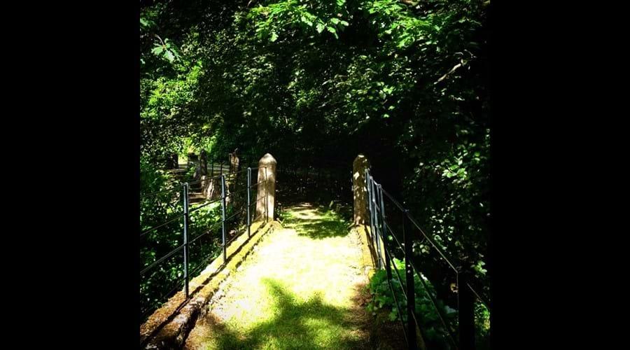 the bridge across the Lake at Eller How.