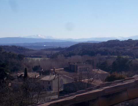 The view towards the Pyrenees is stunning