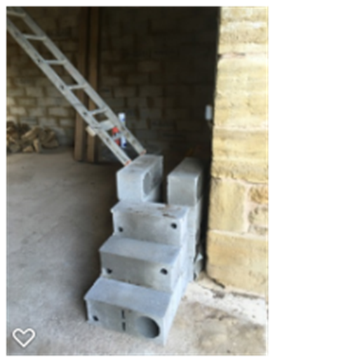 Oak Barn - working out position of stairs